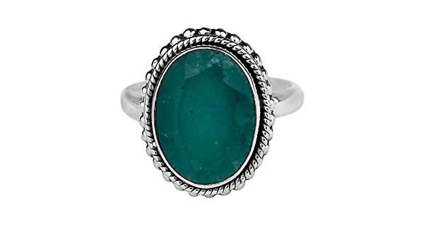 925 Sterling Silver Blue aventurine gemstone Ring Size 6.5 US 4.74 g cc