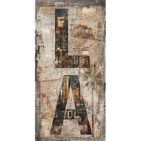 Impresión de Arte Fino en lienzo : LA Vertical by Wilson, Luke - Grande (107 x 213 Cms)