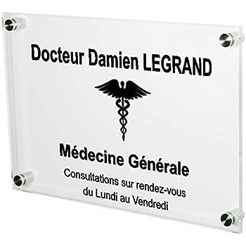 Plaque Professionnelle Médicale - Plaque Professionnelle Médecin en  Plexiglas – Médecine Générale - Personnalisée en ligne 3cf2625588