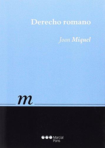 Derecho romano (Manuales universitarios)