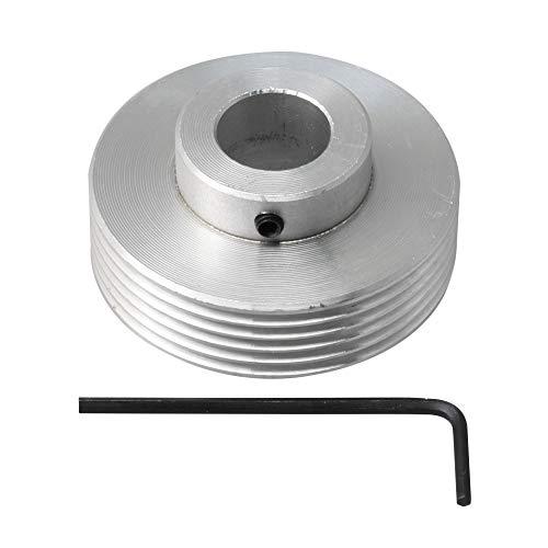 BQLZR 50 mm Durchmesser 15 mm Bohrung Aluminium Mehrkeil PJ V Typ Riemenscheibe 6 Schlitze mit Schraubenschlüssel Teile für industrielle Maschinen Verarbeitungsgeräte