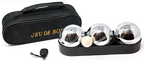 Pétanque Bowling Set. 3Boules in Zip Tasche. (3 Bowling Ball Tasche)