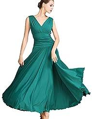29a5f8db75b264 WQWLF Standard Ballsaaltanz Übungskleider für Frauen Performance  Tanzkostüme Expansionsrock Tango Walzer Kleider Modernes Tanzkleid