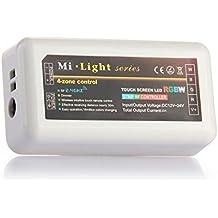 KingLed - Dimmer Ricevitore Multizona per Strisce LED Multicolore RGBW, con Funzione di Dimmer o Variazione di Colore, per Strisce da 12 o 24V, Serie Mi-Light, cod. 1501