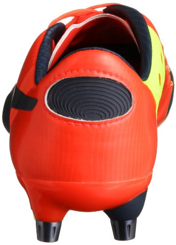 Puma Evopower 1 Mixed Sg, Chaussures de football homme Rouge - Orange/gris/jaune fluo (01)
