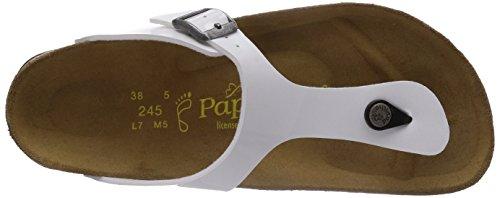 Papillio GIZEH Damen Durchgängies Plateau Sandalen Weiß (Patent White)