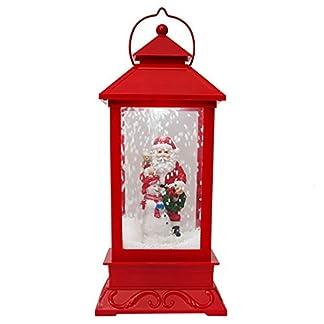 ZYXL Partido del Festival lámpara de Mesa de Navidad de la Linterna LED del Copo de Nieve Creativo Música Pequeño Centro Comercial Ventana Decoración Decoración Tamaño 44 * 18 cm Rojo
