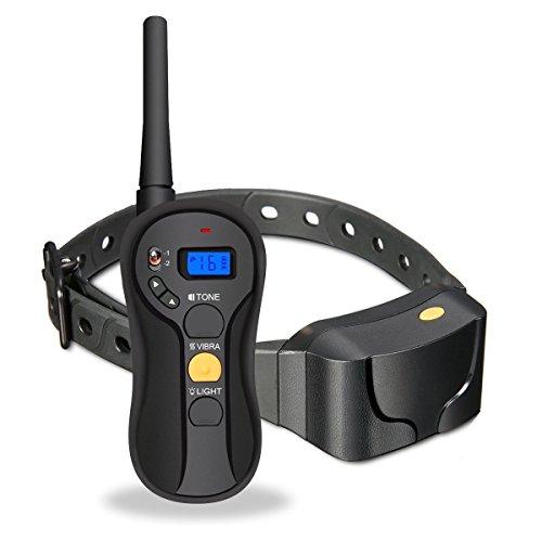 Mincheda [2018 Dog Training Collar mit Remote wiederaufladbaren und 100% Wasserdichten PET-Trainer für große/kleine/mittlere Hunde mit Beep/Vibration/Licht-und Blind Betrieb für Hunde (8-100 PFD.