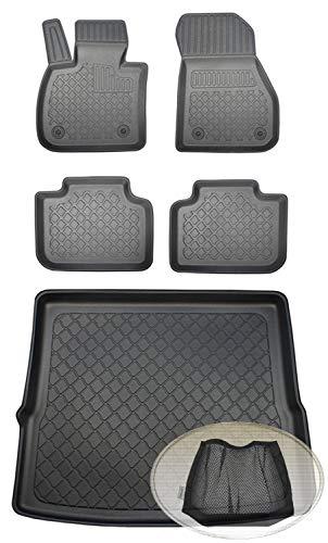 ZentimeX Z392556 Set Kofferraumwanne Gummifußmatten + Klettnetztasche (Laderaumwanne, Kofferraummatte, Automatten)
