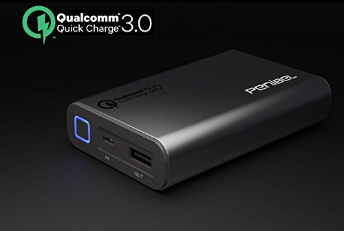 Penibel PT-10 [Qualcom Quick Charge 3.0] 10050mAh Portable Power Bank...