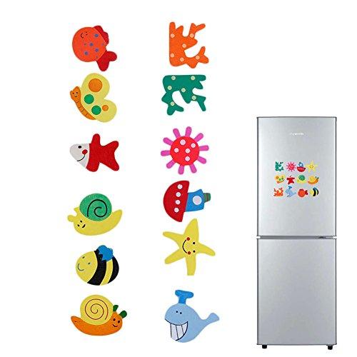 LDA GET Fresh 12 stücke Küche Kühlschrank Cartoon Magnet, Baby Pädagogische Hölzerne Magnet Kühlschrank Cartoon Lustige Geschenk Mode (Kühlschrank Baby-magneten)