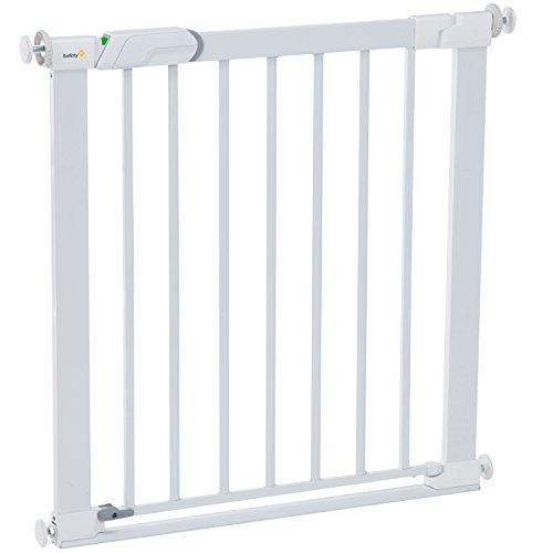 Safety 1st Flat Step Treppenschutzgitter, ultraflache Bodenverstrebung, keine Stolpergefahr mehr, 73-80 cm, weiß (Safety Baby Gate Erweiterbar)