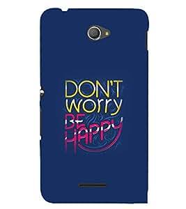 PrintVisa Designer Back Case Cover for Sony Xperia E4 :: Sony Xperia E4 Dual (Quote Love Heart Messages Crazy Express Sorry )