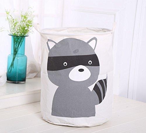 Dooxi Multifunktionale Aufbewahrungssack Aufbewahrungskorb Faltbar für Spielzeug oder Wäschekorb Kinderzimmer - 2
