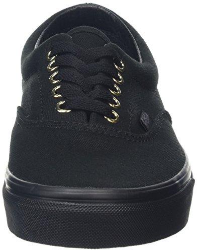 Vans Era, Baskets Basses Mixte Adulte Noir (gold Mono)