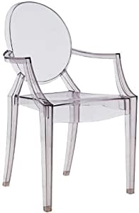 Kartell Louis Ghost Armchair Transparent Smoke Grey