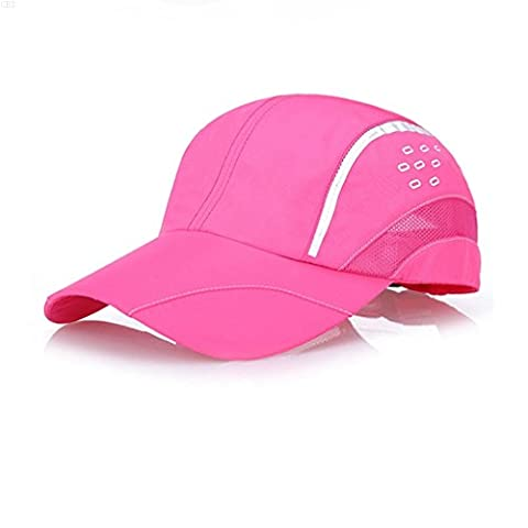 GADIEMKENSD Quick Dry Sports Hat Lightweight Breathable Soft Outdoor Run Cap (Raindrops series, Pink)