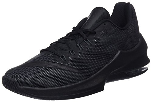 Nike Herren Basketballschuh Air Max Infuriate 2 Low, Schwarz (Black/Black/Anthracite/Metallic Dark Grey 001), 48.5 - Basketball-schuhe Aus