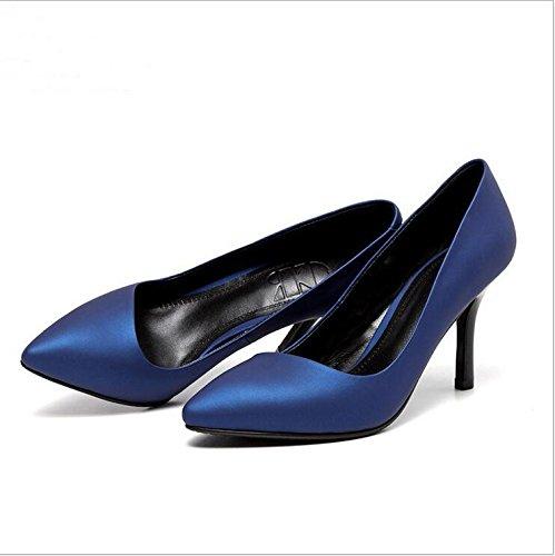 W&LM signora tacchi alti sandali punta singoli pattini bene scarpe casual Scarpe bocca poco profonda Black