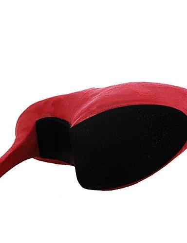 WSS 2016 Chaussures Femme-Extérieure / Bureau & Travail / Soirée & Evénement-Noir / Marron / Rose / Rouge / Gris / Fuchsia-Talon Aiguille-Talons / gray-us6.5-7 / eu37 / uk4.5-5 / cn37