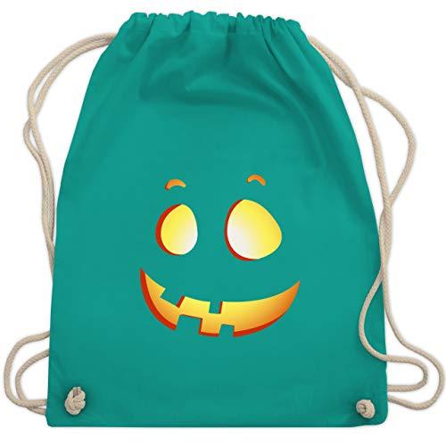 Halloween - süßer Halloween-Kuerbis Kinder - Unisize - Türkis - WM110 - Turnbeutel & Gym Bag