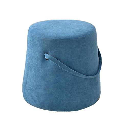 WYYY Bürostuhl Fußhocker Polsterhocker Schuhe Bank Multifunktional Holzrahmen Einfache Osmanische 35x35x35cm Durable stark (Color : Dark Blue) -