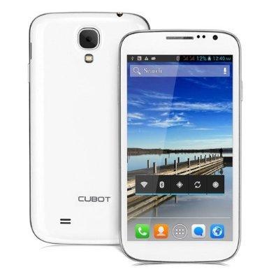 CUBOT 5 PULGADAS P9 ANDROID 4 2 TELEFONO ELEGANTE 3G MTK6572 DUAL CORE 1 3GHZ IPS QHD PANTALLA 512MB RAM 4GB ROM GPS 8MP CAMARA - BLANCO