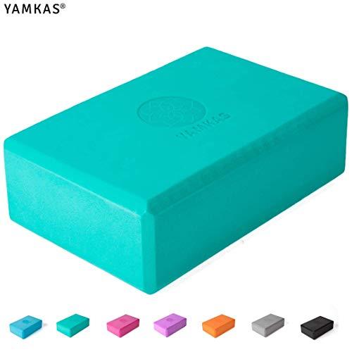 Yamkas Yoga Block Eva Foam hochdichter   Yoga blocke Eva-Schaum umweltfreundlich (Green, 3'x6'x9')