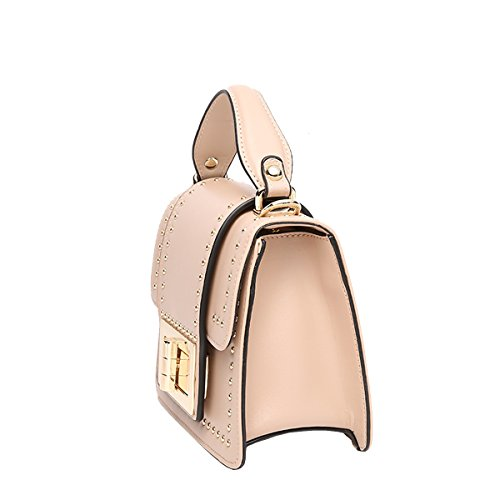 Dissa Q0892 Damen Leder Handtaschen Satchel Tote Taschen Schultertaschen Rose