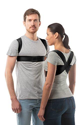 Corrector de Postura Ajustable de aHeal - Corrector Espalda De Hombros Para Hombres y Mujeres - Soporte de Espalda Alivia Dolor y Mejora Postura - Negro, Tamaño 3