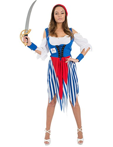 Damen Preiswerte Wert Pirat Karneval Fasching Verkleidung Kostüm Small