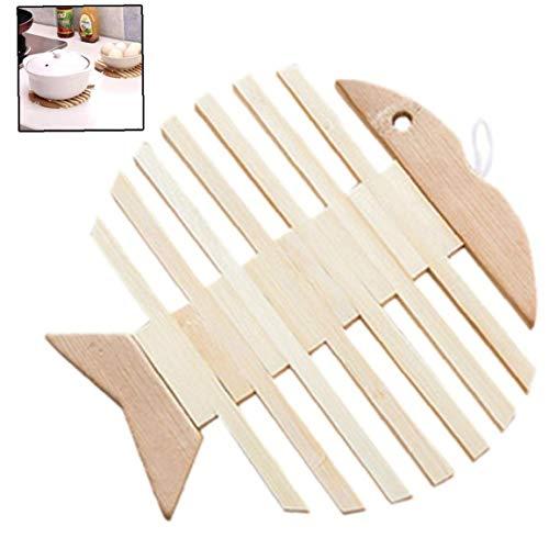 Lankater Wärmedämmung Holz Cup Untersetzer Kreative Holz-Topf-Halter Tabelle Tischset Mat Küchenzubehör Home Decoration (Tischsets Holz-tabelle)