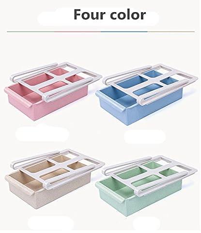 Tiroir Frigo ,Morbuy 2PC Blé Paille Boîtes de Rangement Frigo étagère de Cuisine Support de Rangement Glissez La Cuisine Réfrigérateur Congélateur Space Saver Organisateur