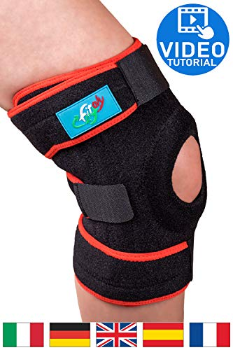 FitFitaly Ginocchiera Ortopedica Per Legamenti, Rotula e Menisco - Tutore Ginocchio Regolabile x Sport - Ambidestra