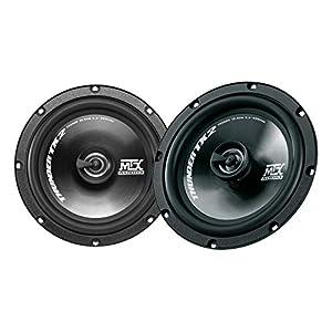 """MTX Thunder Spiel Koaxial-Lautsprecher TX2 265C, 2-Wege-6.5"""", 260W, Empfindlichkeit von 92,5 db, Suspension Gummi, Schwarz"""