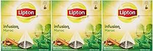 Lipton Infusion Maroc Menthe Epices 20 Sachets 40g - Lot de 3