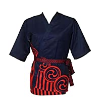 Black Temptation Japanese Sushi Chef Coat Uniforms [ L size for unisex ] - Kitchen Uniforms - B