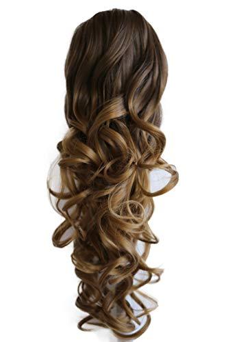 PRETTYSHOP Haarteil Hair Piece Zopf Pferdeschwanz Voluminös ca.50cm Hitzebeständig ombre braun #6T27 H142