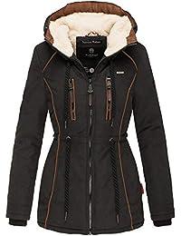 Marikoo Damen Winter Jacke Stepp Parka Mantel Winterjacke Teddyfell warm  gefüttert XS - XXL 6 Farben 44bf4fe609