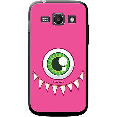 Monster Faces cover/custodia rigida per cellulari Samsung, PLASTICA, One Eyed Pink Monster Face, Samsung Galaxy Ace 3 (S7270)