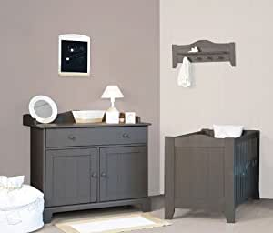 Commode à Langer - 3 Tiroirs Country Warm Grey Childwood