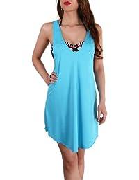 SODACODA Mesdames belle aérée loisirs de plage de dissimulation de bikini robe / Haut en couleurs rafraîchissantes - Taille (36-42)
