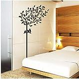 ZBYLL Wall Sticker Baum Wohnzimmer TV-Wand Schlafzimmer Bett an der Wand Dekoration Aufkleber Malerei