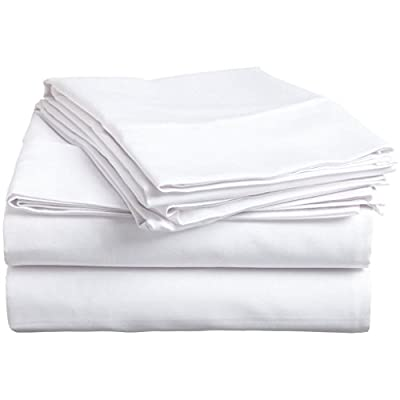 Hachette 400 THREAD COUNT 100% EGYPTIAN COTTON FITTED SHEET KING SIZE WHITE 400TC by Hach