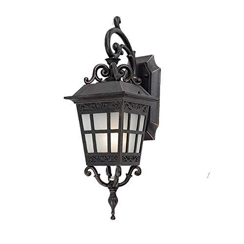 LYQQ Home Unten Wandleuchte Laterne 9W Wasserdicht Garten Lampe E27 Dekoration Street Villa Licht Gartenleuchten
