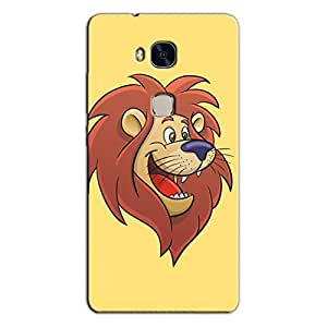 HAPPY LION FACE BACK COVER FOR HONOR 5X