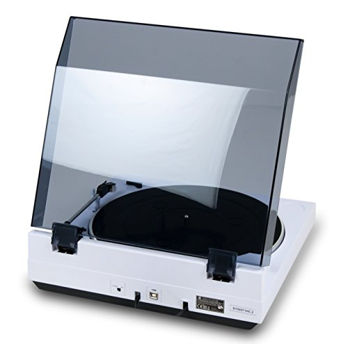 Dual DT 210 USB Schallplattenspieler mit Digitalisierungsfunktion, weiß - 4