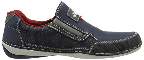 Rieker - B9251 Loafers & Mocassins-men, Mocassini Uomo Blu (Rauch/denim/denim / 47)