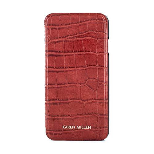 Karen Millen® Croc Krokodil-Leder Imitat Handyhülle Kompatibel mit Apple iPhone 8 Plus / 7 Plus (5.5