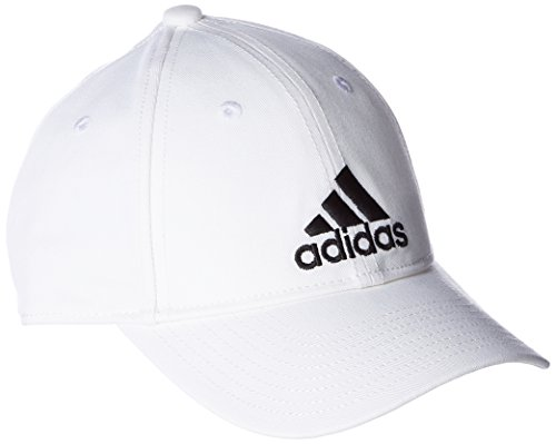 adidas 6 Panel Kappe, White/Black, OSFM